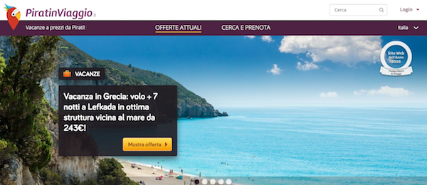 Homepage di Pirati in Viaggio
