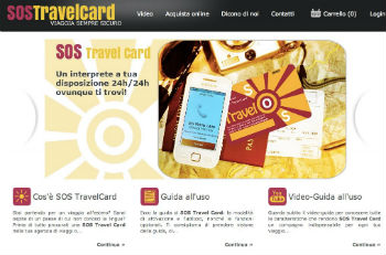 Screenshot sito SOS TravelCard