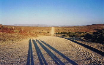 Noi on the road in Namibia