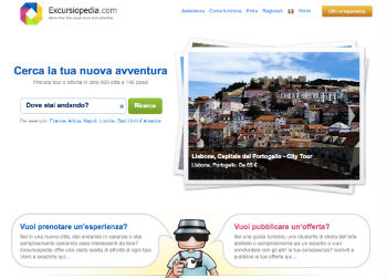 Screenshot del sito Excursiopedia