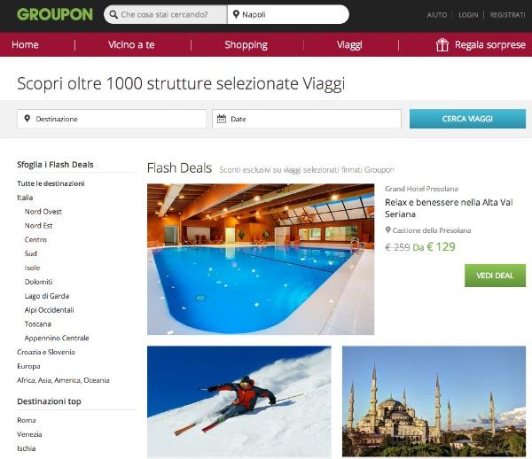 Viaggio VeroOfferte di Groupon: focus per te su tre proposte ...